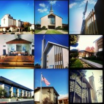 Our Lady Grace, United Methodist, Unity Church, Valley Baptist, Foothill Baptist, Faith Lutheran, Neighborhood Church, First Baptist, Redwood Chapel